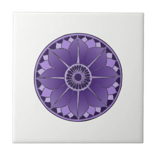 NAMASTE Purple Flower Spiritual Lotus Mandala Tile