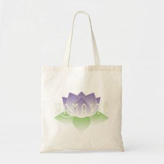 Namaste Purple Lotus Yoga Tote Bag