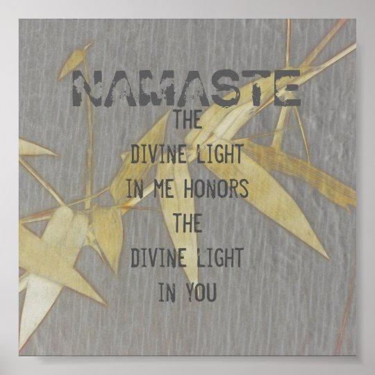 Namaste quote poster nature art