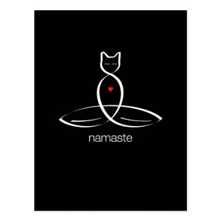 Namaste - Regular style text. Postcard