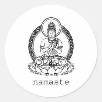 Namaste Round Sticker
