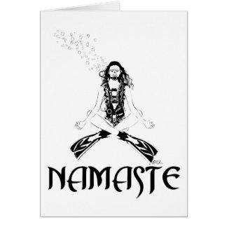 Namaste Scuba Yoga Card