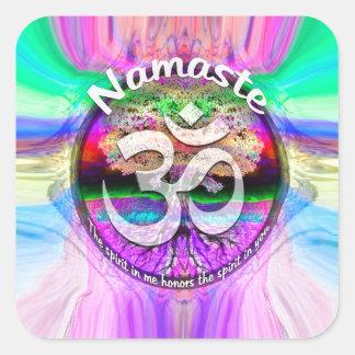 Namaste Square Sticker