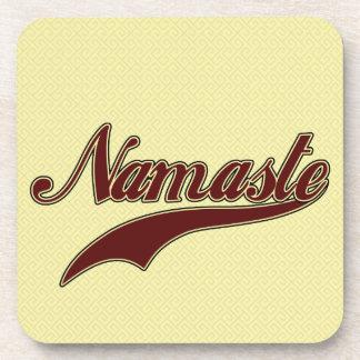 Namaste Stylish Red Burgundy Beverage Coasters