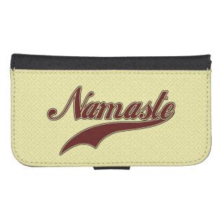 Namaste Stylish Red Burgundy square spiral Phone Wallet Case