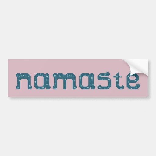 Namaste Teal Bumper Sticker Car Bumper Sticker