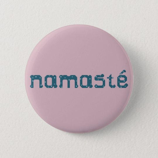 Namaste Teal Button