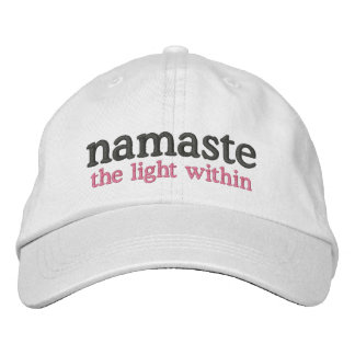 Namaste the light within embroidered hats