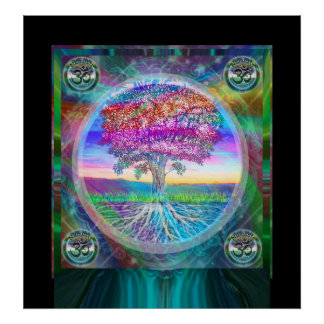 Namaste Tree of Life Poster