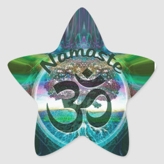 Namaste Tree of Life Star Sticker