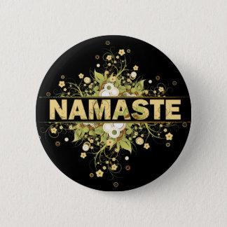 Namaste Vintage Floral 6 Cm Round Badge