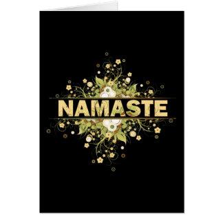 Namaste Vintage Floral Card