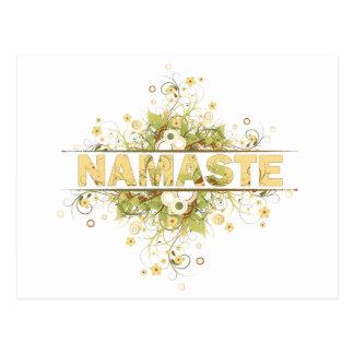 Namaste Vintage Floral Postcard