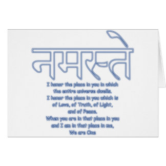 namaste we are one greeting card