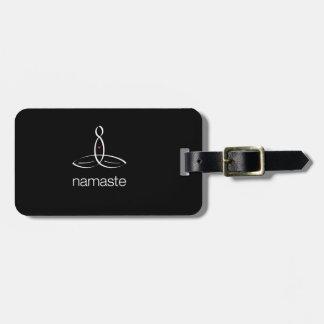 Namaste - White Regular style Luggage Tag