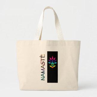 Namaste with Lotus Large Tote Bag