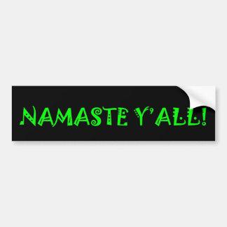 Namaste Y'All - Yoga Bumper Sticker