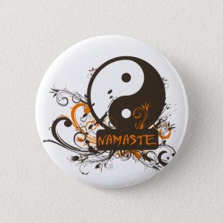 Namaste Yin Yang 6 Cm Round Badge