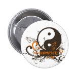 Namaste Yin Yang Badges