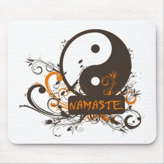 Namaste Yin Yang Mousepad
