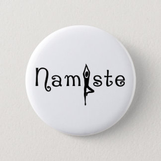 Namaste Yoga Button