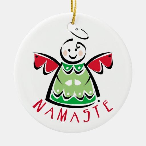 Namaste Yoga Christmas Christmas Ornament