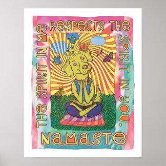 Namaste Yoga Dog Poster