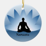 Namaste Yoga Lotus Man Flower Ornament