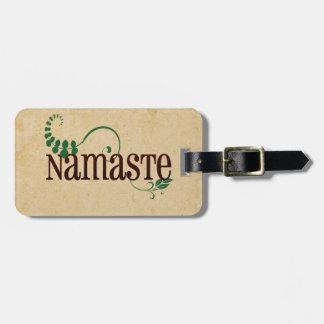 Namaste Yoga Luggage Tag