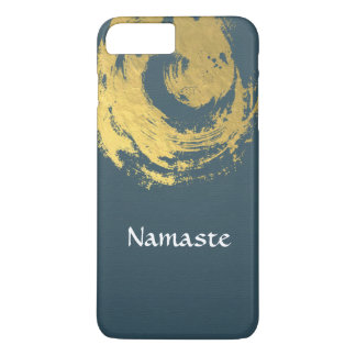 Namaste Yoga Meditation Instructor Blue Gold ZEN iPhone 8 Plus/7 Plus Case