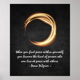 Namaste Yoga Meditation Quotes Black Gold ZEN Sign