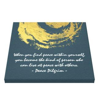 Namaste Yoga Meditation Quotes Blue Gold ZEN Sign