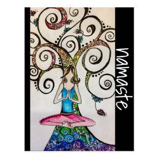 Namaste Yoga Postcard