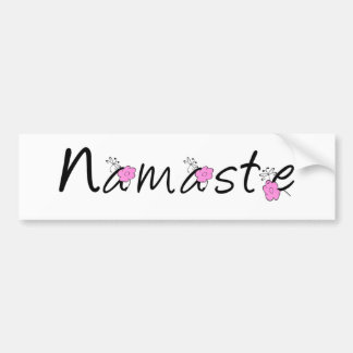 Namaste Yoga Sticker Bumper Sticker