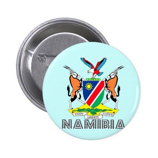 Nambian Emblem Pinback Button