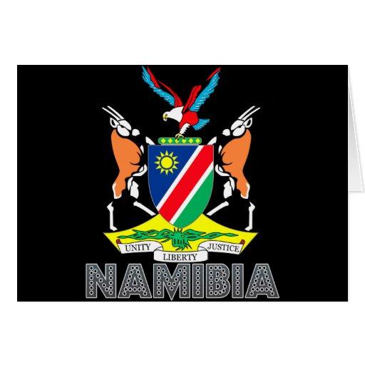Nambian Emblem Greeting Cards