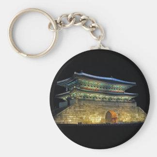Namdaemun Gate Seoul Basic Round Button Key Ring