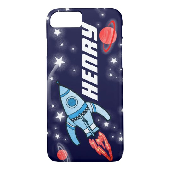 Name 5 letter rocket space navy iPhone 7 case