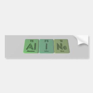 name-Aline-Al-I-Ne-Aluminium-Iodine-Neon Car Bumper Sticker