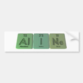 name-Aline-Al-I-Ne-Aluminium-Iodine-Neon Bumper Stickers