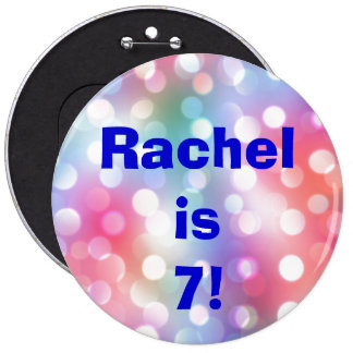Name And Age Fun Birthday Button Pin