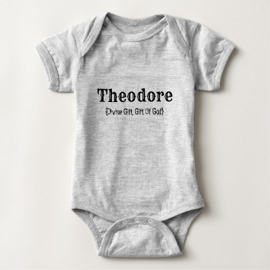 Name and Meaning (Theodore) Baby Bodysuit   Zazzle.co.uk