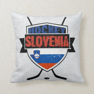 Name and Number Custom Slovenian Hockey Pillow