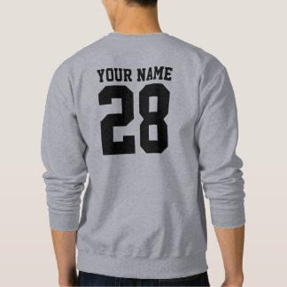 Name and Number custom sweatshirt