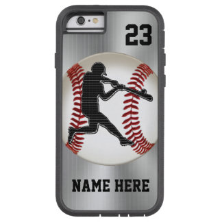 NAME and NUMBER iPhone 6 Baseball Cases Tough