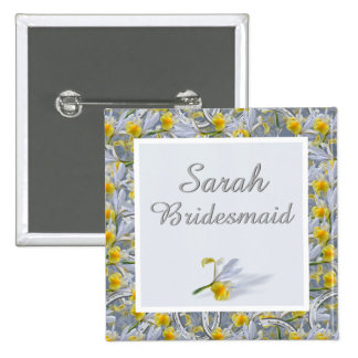Name and role wedding badge