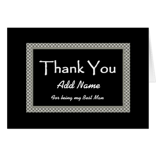 NAME Best Man Chequerboard Wedding THANK YOU 3