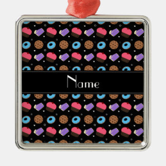 Name black cupcake donuts cake cookies christmas ornament