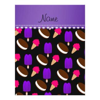 Name black ice cream cones sandwiches popsicles 21.5 cm x 28 cm flyer