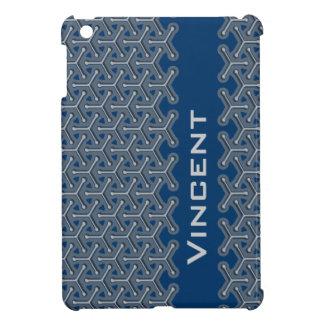 Name blue name tri-cubic patterned ipad mini iPad mini cases